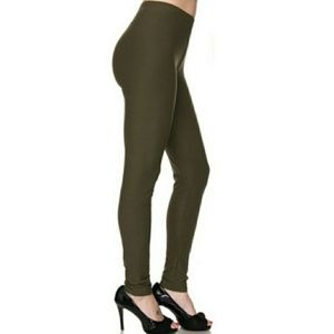 Olive Green Leggings